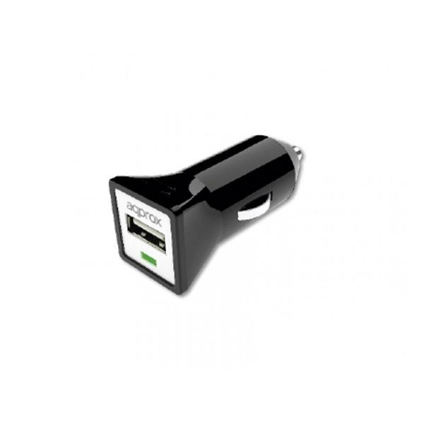 APPROX APPUSBCARB  Autós töltő 5V/1A (1db USB2.0) Fekete