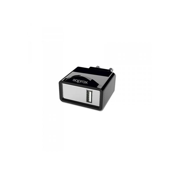 APPROX APPUSBWALL1B Univerzális Telefon töltő 5V/1A (1db USB) Fekete