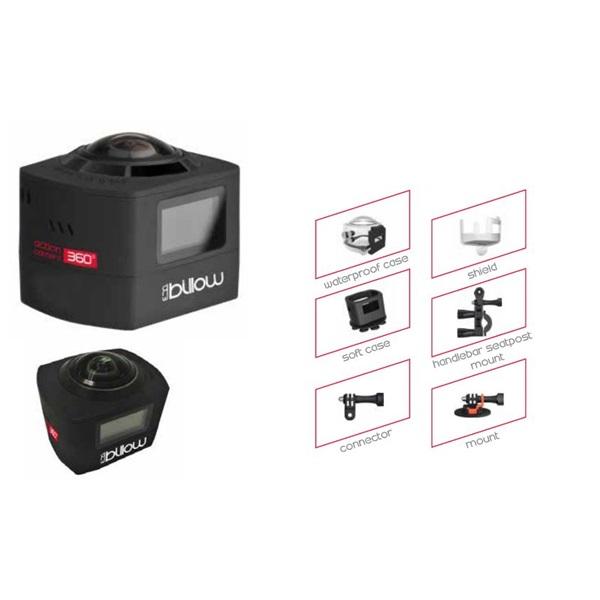 APPROX Billow XS360PROB 360° FullHD Sport Kamera (H.265,30M-ig vízálló, 1920x1440, Wi-Fi, MicroUSB,1