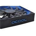Alphacool Cooler 12cm - Susurro Fan Black/Blue Edition 1700rpm (22,5dB; 164 m3/h; 1700rpm; 3pin csatlakozó)