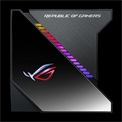 Asus CPU Water Cooler - ROG RYUJIN 360 (All-in-One, Aura Sync RGB, OLED Display, 29,7dB; 2000 RPM; 3x12cm, fekete)