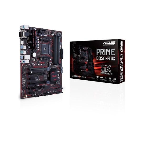 Asus PRIME B350-PLUS AM4 (B350, 4xDDR4 2666MHz, 1xGBE LAN, 6xSATA3, 6xUSB2.0, 6xUSB3.0, 2xUSB3.1)