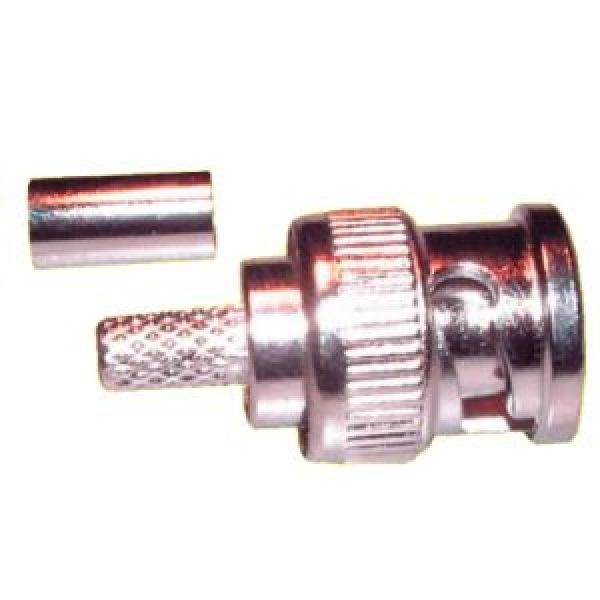 BNC dugó krimpelhető RG-59-es kábelre (3205-100), 100db/csomag
