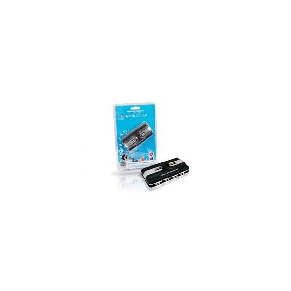 Conceptronic C7USB2 USB Hub 7 Port (fekete, külső tápellátás, kompakt dizájn)