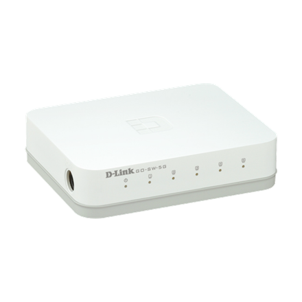 D-Link Gigabit Desktop Switch - GO-SW-5G (10/100/1000 Mbps, 5 port)