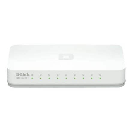 D-Link Desktop Switch - GO-SW-8E (10/100 Mbps, 8 port)