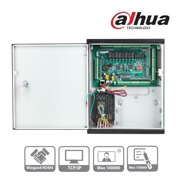 Dahua ASC1204C-D beléptető rendszer központ, 4 olvasó bemenet (4 ajtó 2 irány), I/O, 1x RJ45, fém do