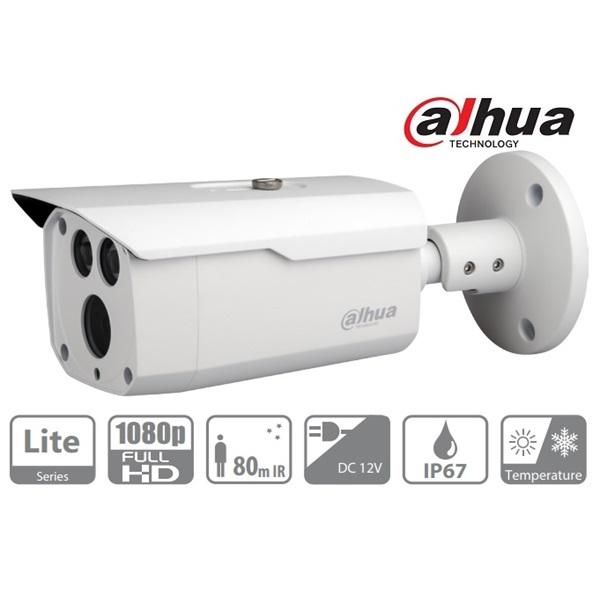 Dahua HAC-HFW1220D Bullet kamera, kültéri, 1080P, 3,6mm, IR80m, ICR, IP67, DWDR, AHD/CVI/TVI/CVBS