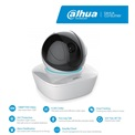 Dahua Consumer IP wifi PT Dome kamera - IPC-A26 (2MP, 3,6mm, beltéri, H265, IR10m, D&N(ICR), DWDR, SD, audio, 5VDC)