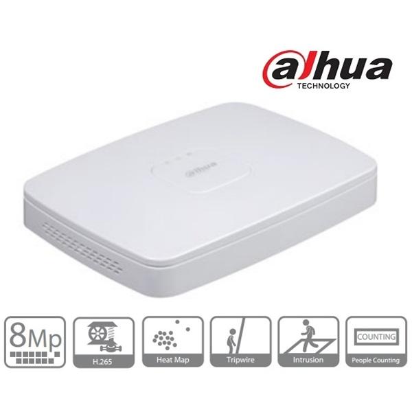 Dahua NVR4116-8P-4KS2 NVR, 16 csatorna, H265, 80Mbps rögzítési sávszélesség, HDMI+VGA, 2xUSB, 1x Sat