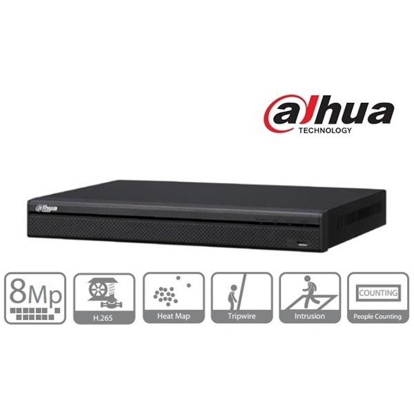 Dahua NVR4204-P-4KS2 NVR, 4 csatorna, H265, 200Mbps rögzítési sávszélesség, HDMI+VGA, 2xUSB, 2x Sata