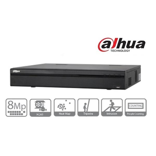 Dahua NVR4432-4KS2 NVR, 32 csatorna, H265, 200Mbps rögzítési sávszélesség, HDMI+VGA, 2xUSB, 4x Sata,