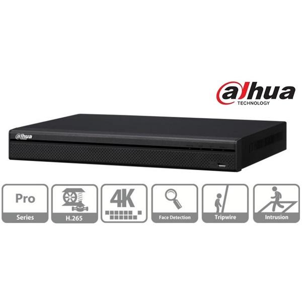 Dahua NVR5208-4KS2 NVR, 8 csatorna, H265, 320Mbps rögzítési sávszélesség, HDMI+VGA, 2xUSB, 2x Sata,