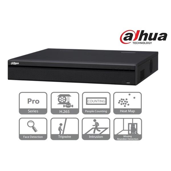 Dahua NVR5416-4KS2 NVR, 16 csatorna, H265, 320Mbps rögzítési sávszélesség, HDMI+VGA, 3xUSB, 4x Sata,