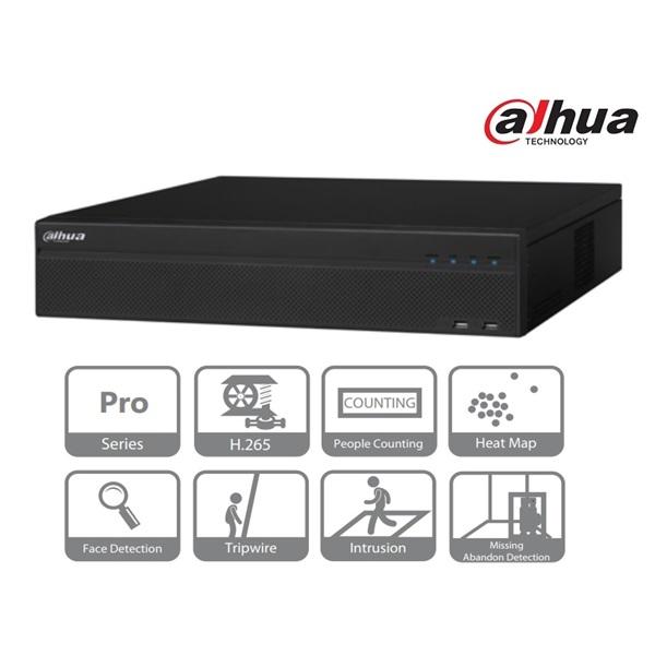 Dahua NVR5864-4KS2 NVR, 64 csatorna, H265, 320Mbps rögzítési sávszélesség, HDMI+VGA, 3xUSB, 8x Sata,