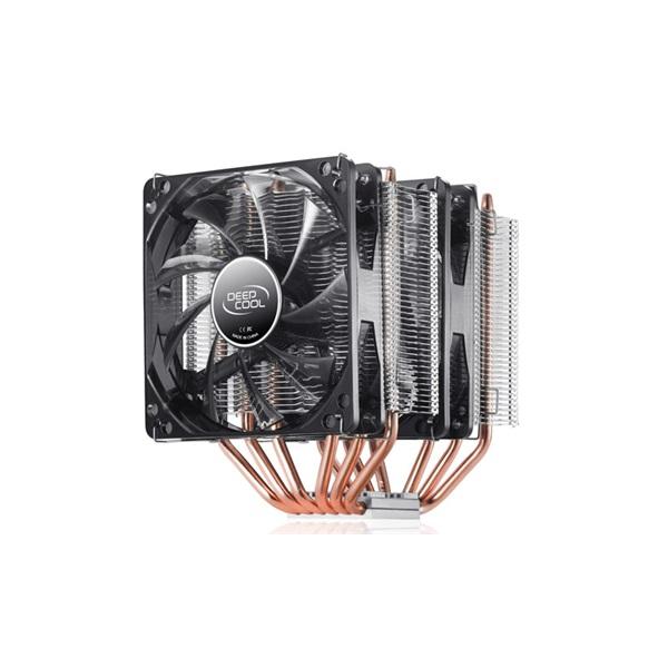 DeepCool CPU Cooler - NEPTWIN V2.0 (17,8-30dB; max. 126,30 m3/h; 4pin csatlakozó; 6 db heatpipe, 2x1