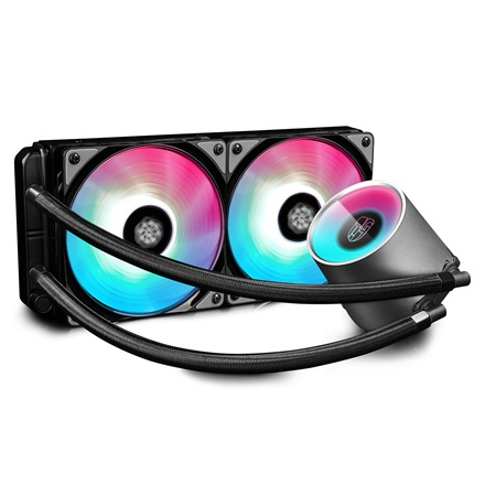 DeepCool CPU Water Cooler - CASTLE 240 RGB (17,8-30dB; max. 117,8 m3/h; 2x12cm)