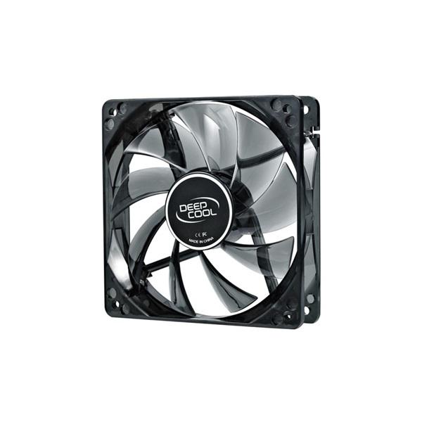 DeepCool Cooler 12cm - WIND BLADE 120 (26,6dB; max. 91,15 m3/h; 3pin csatlakozó; ház hűtésre, kék LE