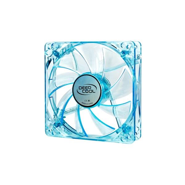 DeepCool Cooler 12cm - XFAN 120U B/B (26dB; max. 75,96 m3/h; 3pin csatlakozó; ház hűtésre, UV, kék L