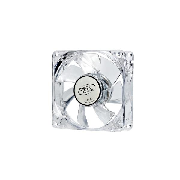 DeepCool Cooler 8cm - XFAN 80L/B (20dB; max. 37,03 m3/h; 3pin csatlakozó; ház hűtésre, kék LED)