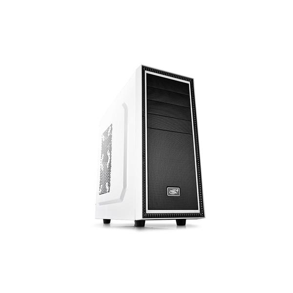 DeepCool Számítógépház - TESSERACT BF WHITE (fehér, fekete belső, 1x12cm ventilátor, ATX, mATX, 1xUS