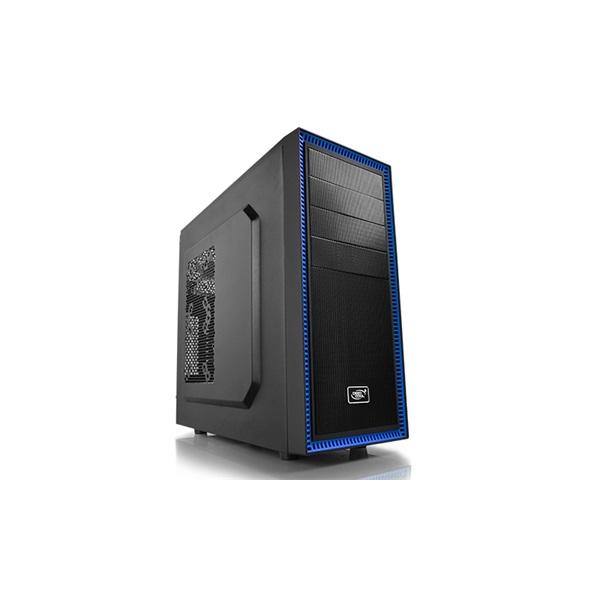 DeepCool Számítógépház - TESSERACT BF (fekete, fekete belső, 1x12cm ventilátor, ATX, mATX, 1xUSB3.0,