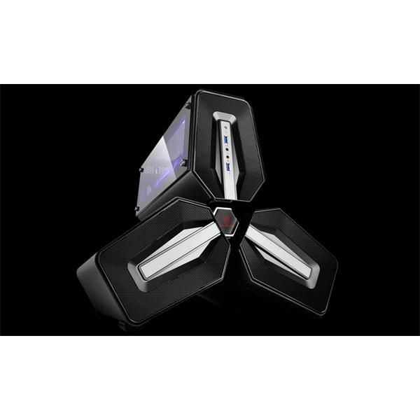 DeepCool Számítógépház - TRISTELLAR SW (fekeke, fekete belső, 1x9cm ventilátor mini-ITX, 2xUSB3.0)