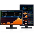 "Dell LED Monitor 24"" U2412M 1920*1200, 1000:1, 300cd, 8ms, DVI, USB, pivot, fekete"
