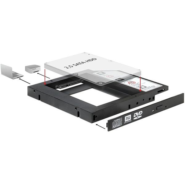 Delock 61993 Slim SATA 5.25 Installation Frame for 1 x 2.5 SATA HDD