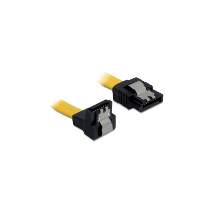 Delock 82482 SATA cable 70cm down/straight metal yellow