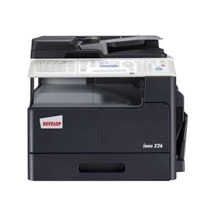 Develop Ineo 226 SET A3 3 in 1 hálózatos duplex MFP (22ppm/A4, 12ppm/A3, 600x600dpi, GDI, 128MB, 250lap, RJ45, USB)