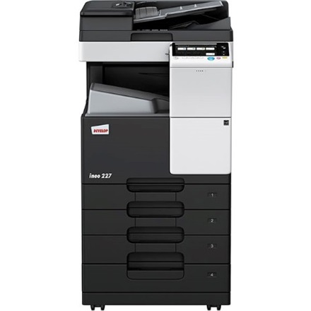 Develop Ineo 227 SET A3 3 in 1 hálózatos duplex MFP (22ppm/A4, 14ppm/A3, 1800x600dpi, 2GB, 1100 lap, RJ45, USB)