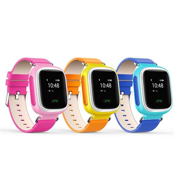 GC60 - GPS nyomkövetős gyermek karóra (kék, Vízálló IP67, OLED kijelző, GPS, SIM, Hívás, Geofence, SOS)