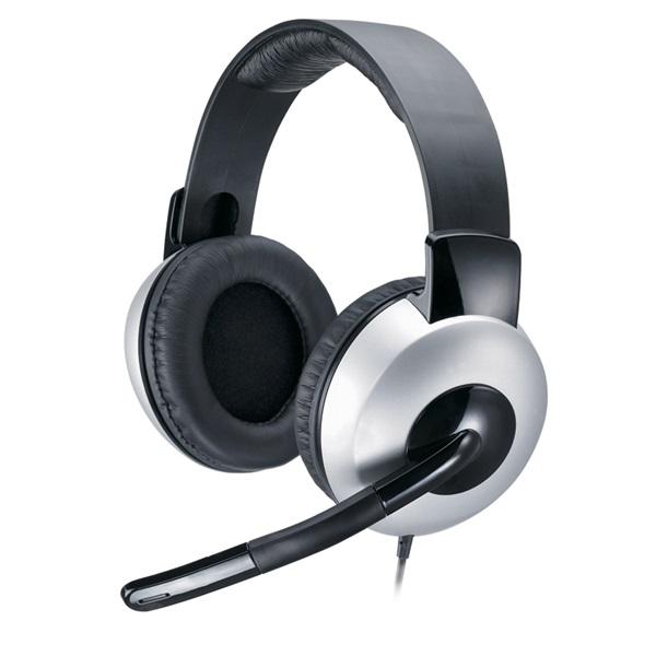 Genius HS-05A Stereo Fejhallgató (3.5mm Jack, hangerőszabályozó, mikrofon)