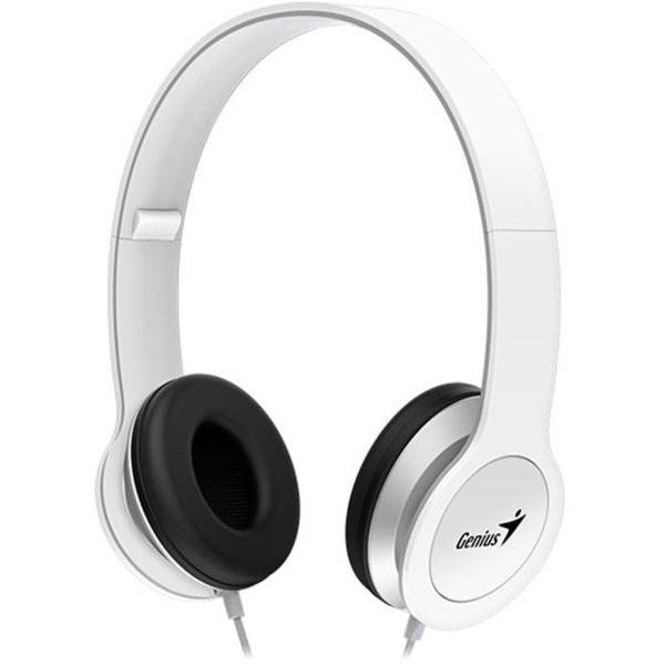 Genius HS-M430 Fejhallgató Fehér (3.5mm Jack, hangerőszabályozó, mikrofon)