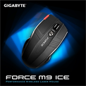 Gigabyte FORCE M9 ICE Wireless Gaming Lézer egér USB Fekete (2000DPI, 3200FPS)