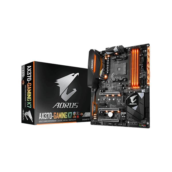 Gigabyte GA-AX370-Gaming K7 AM4  (AX370, 4xDDR4 3600MHz, 3xPCI-E, 1xGBE LAN, 8xSATA3, 4xUSB2.0, 8xUS