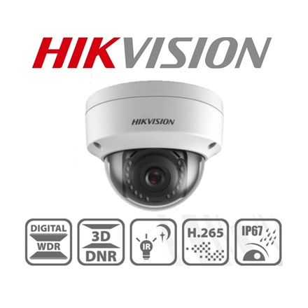Hikvision IP dómkamera - DS-2CD1123G0-I (2MP, 2,8mm, kültéri, H265+, IP67, IR30m, ICR, DWDR, 3DNR, PoE, IK10)