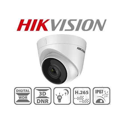 Hikvision IP turretkamera - DS-2CD1323G0-I (2MP, 2,8mm, kültéri, H265+, IP67, IR30m, ICR, DWDR, 3DNR, PoE)