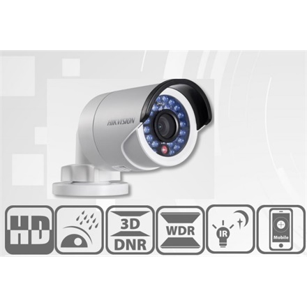 Hikvision DS-2CD2042WD-I IP Bullett kamera, kültéri, 4MP, 6mm, H264+, IP66, IR30m, D&N(ICR), WDR, 3DNR, PoE