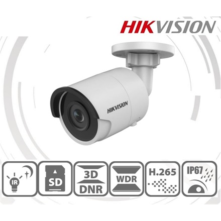 Hikvision DS-2CD2043G0-I IP Bullet kamera, 4MP, 2,8mm, H265+, IP67, IR30m, ICR, WDR, 3DNR, SD, PoE