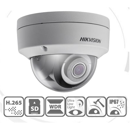 Hikvision IP dómkamera - DS-2CD2125FWD-I (2MP, 2,8mm, kültéri, H265/H265+, IP67, EXIR30m, D&N(ICR), WDR, SD, PoE, IK10)