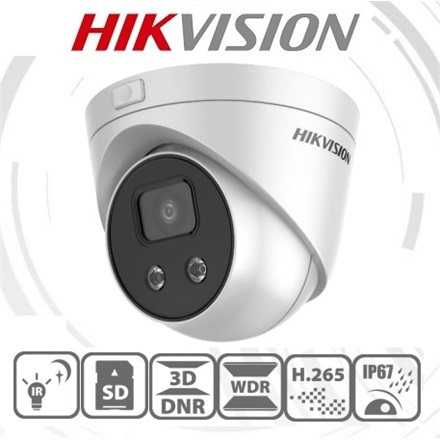 Hikvision IP turretkamera - DS-2CD2326G1-I (2MP, 4mm, kültéri, H265+, IP67, EXIR50m, ICR, WDR,3DNR,SD, PoE, Darkfighter)