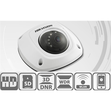 Hikvision DS-2CD2522FWD-IS IP Dome kamera, kültéri, 2MP, 4mm, H264+, IP66, IR10m, D&N(ICR), WDR, 3DNR, PoE, SD, I/O, aud