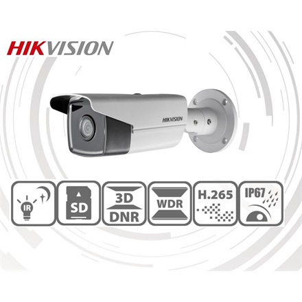 Hikvision IP csőkamera - DS-2CD2T43G0-I5 (4MP, 2,8mm, kültéri, H265+, IP67, IR50m, ICR, WDR, SD, PoE)
