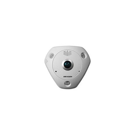 Hikvision DS-2CD6332FWD-IVS fisheye dome kamera, 3MP(2048x1536), 1,19mm, IP66, D&N(ICR), 3DNR, WDR,SD,Audio,I/O,PoE,vand