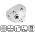 Hikvision DS-2CD6362F-IVS fisheye dome kamera, 6MP(3072x2048), 1,27mm, IP66, D&N(ICR), 3DNR, DWDR, SD, Audio, PoE, I/O