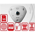 Hikvision DS-2CD63C2F-IVS fisheye dome kamera, 12MP, 2mm, IP66, D&N(ICR), 3DNR, DWDR, SD, Audio, PoE, I/O, vandal.
