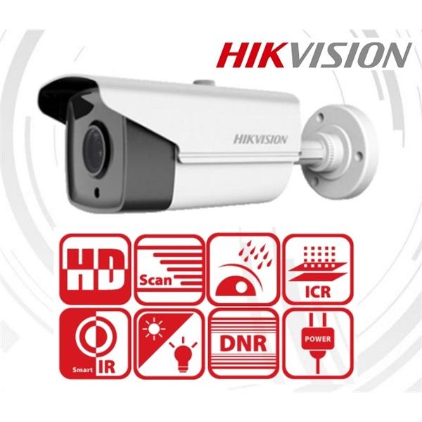 Hikvision DS-2CE16C0T-IT5F Bullet kamera, kültéri, 720P, 6mm, EXIR80m, D&N(ICR), IP66, AHD/CVI/TVI/C