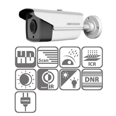 Hikvision DS-2CE16D0T-IT3 Bullet HD-TVI kamera, kültéri, 1080P, 2,8mm, EXIR40m, IP66, DNR